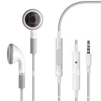 Earphone Headdphone Headset with Remote and Mic W/mic for iPhone 3G 3GS for iphone4  colors 500pcs/lot  free DHL shipping