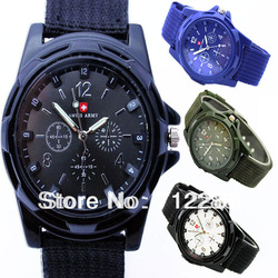 HOT sale Luxury Analog new fashion TRENDY SPORT MILITARY STYLE WRIST WATCH for MEN SWISS ARMY quartz watch,BLACK/WHITE color MB1(China (Mainland))