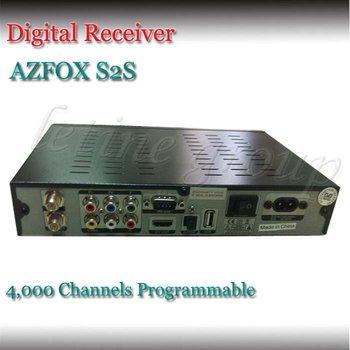 DHL EMS Free shipping!HD fully DVB decoder Azfox S2S digital satellite receiver