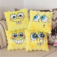 Free shipping cartoon Spongebob pillow stuffed plush pillow, plush cushion ,home decoration,4 expression for choosing,