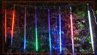 240 LED 8pcs 50cm tubes LED Meteor Light Meteor shower tube lights , Fake double sided , 3 set / packing ,White Blue RGB color