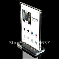 A5 size Acrylic display stand for Signs/advertisemens/brochure in Apple store SSLT-ZJ-T08