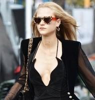 Free shipping Original Leopard  brand sunglasses women lady gaga style