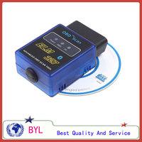 Smallest Min ELM 327 ELM327 Bluetooth V1.5 OBD2 OBDII Auto Diagnostic Scanner Adapter Tool