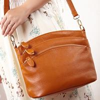 Fashion 100% GENUINE LEATHER Bags Women 2014 Crossbody Handbags 5 Colors Multi-Functional Messenger Bags*Free Shipping MB1105