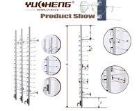 [YUCHENG] High quality wall mounted sunglass/eyewar display rack with lock Y016-14