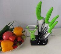 FREE SHIPPING! 6pcs gift set,ceramic knife set 3 4 5 6 +Peeler with block,ceramic knife set peeler gift package