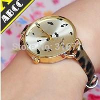 Wholesale High Quality Women Wrist Watch,Fashion Luxury Famous Brand JULIUS Quartz Leopard Leather Strap Watches Clock JA-254