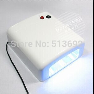 Better Material, 36W 220V Gel Curing Nail Art UV Lamp(EU Plug) with 4pcs 9W 365nm Bulb H4279 Free Shipping