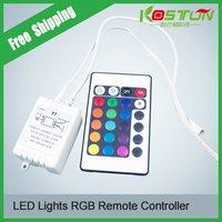 DC12V 24 Keys Led Controller RGB SMD Strip Lights ,led rgb dimmer free shipping