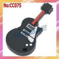 2014 Top Fasion Wholesale Stock  Plastic Guitar USB Flash Memory Drive Stick Card Pen Drive Disk Free shipping Black #CC075