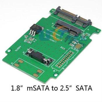"""Mini PCIe PCI-e mSATA 3x5cm SSD to SATA Converter Adapter Enclosure For 1.8"""" 50mm SAMSUNG PM800 Intel 310 SSD Singapore Post"""
