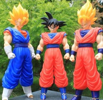 Free Shipping  42cm Dragon Ball Z Goku King / Vegeta / Super Saiyan Movable  Action Figures goku do dragon ball z
