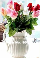 12 Real Touch Silk Lover Roses Bud Gift