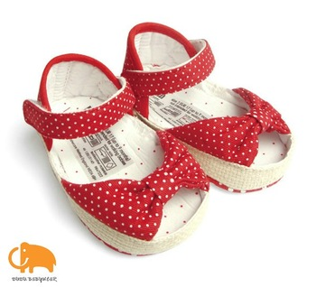 Free shipping+retail,baby girl summer shoes,red dot princess style infant shoes,baby prewalker shoes,learning walk,soft sole