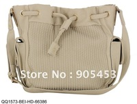 2013 Free shipping Women Designer Bag New Weave Handbags Large Drawstring  Handbag Vintage  Shoulder Bags QQ1573 Beige
