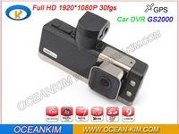 New GS2000 With GPS Logger FULL HD 1920*1080 30FPS Car DVR Camera Recorder With H.264 HDMI G-sensor Ambarella CPU Free Shipping