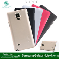 With Screen protector Nillkin Super Shield Hard Back Case For Samsung Galaxy Note 4 N9100 free shipping