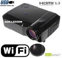 WiFi  Quad  core 1.8GHz ,Quad Core Cortex LED Projector Excellent ! Native 720p WXGA 1280*800pixels Full HD 3D LED projectors