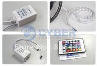 Promotion 5M RGB 3528 Flexible Waterproof 300 Led Strip Light +24 Keys IR Remote + EU Plug Power Adapter B_004 2727 2650