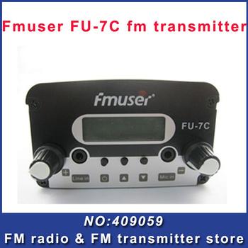 FREE SHIPPING FU-7C 7w broadcast  transmitter FM radio with fm transmitter