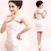Quinceanera Dresses party 2014 fashion plus size lace DRESS women party knee Dress 2015    692