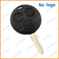 free shipping smart  remote key case fob 3 buttons no logo for mercedes bz car key