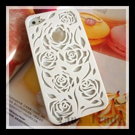 Free shipping New Hollow out carving protection shell High quality for iphone 4 4s cases mobile phone case