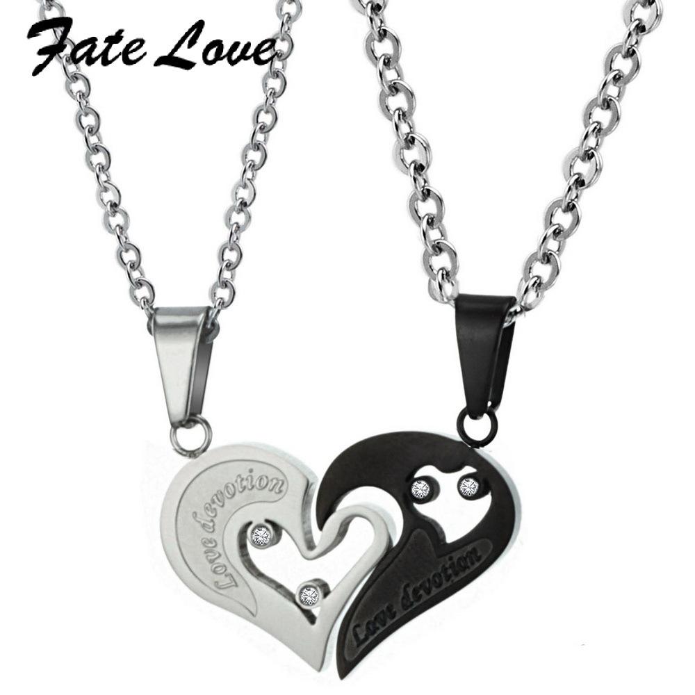 2014 New Fashion Necklaces pendant 2012 white rose gold love titanium lovers necklace gx735