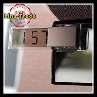 Free shipping New car electronic clock transparent liquid crystal display LCD Car timer digital clock #8099