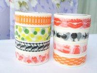 1360 ! new pattern Express free shipping Japanese paper tape(decorative tape), adhesive masking tape.wholesale 180pc/lot