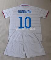 2014 DONOVAN DEMPSEY JONES ALTIDORE home white soccer jerseys sets (jerseys + shorts) Player version + can custom names
