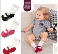 Free shipping 10pair/lot baby cotton socks  kids Floor Socks indoor footwear children anti-slip socks