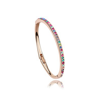 2 Colors Option 100% Austria Crystal Bangle For Women and Children