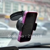 Free Shipping Plastic Universal Car Mount Holder Mobile Phone Holder For IPHONE4 IPHONE4S