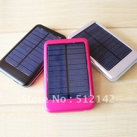 Brand 5000mAh solar portable charger, power bank for ipad iphone samsung and smart phone !
