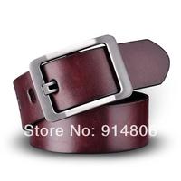 2014 New Casual Genuine Leather Cowskin Belt For Men Fashion Korean Version Joker Men Belits Black And Brown Color