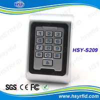 IP68 Completely waterproof rfid prximity 125Khz EM ID card entry lock door access control with keypad metal case wiegand26 input