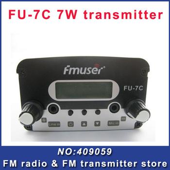 FU-7C 7w broadcast fm radio transmitter silver  black fm radio transmitter FM exciter