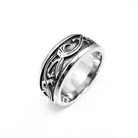2013 New Men's Silver Party 316L Stainless Steel Ring New Gift Wholesale lots Free shipping