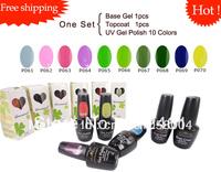 Free shipping 12pcs/lot fashion nail art SoakOff UV Gel Polish fashion nail art  260 colors available color  P061-P070  hot sale