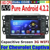 Pure Android 4.2 A9 1.6G Fast CPU Car DVD GPS for Chevrolet Captiva Epica Lova Capacitive screen WIFI USB RADIO Bluetooth SD