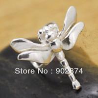 2pcs Ear Stud Ear Cuff 925 Sterling Silve Ear Clips dragonfly Cartilage Wraps Clip Non-pierced Earrings for men/women 16#