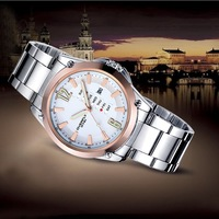 2013 Top Brand EKYI Stainless Steel Strap Promotion XMAS Gift Hot Sell Male Fashion Quartz Wrist Watch Best Price 8502