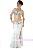 Belly Dance Costume Set NILLE 3 pics Bra&Belt&Skirt 34B/C 36B/C 38B/C 11 colors