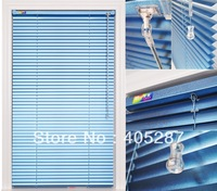 25mm aluminum venetian blinds ,Steal Head-rail r,One Set system control,Blue color