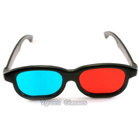 Anti-scratch Red Blue 3D Glasses Anaglyphic 3d eyewear  Wholesale 100pcs FREE SHIPPING