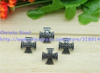20sets/lot 15*15mm Cross Rivet Classic Gothic Spike High Quality DIY Alloy Stud  Leathercrafts Accessory Free Shipping