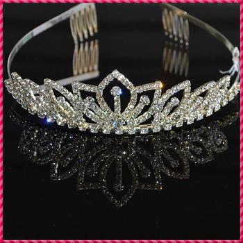 2013 Fashion Rhinestone Crystal Wedding Bridal Crown Headband Customized Free Shipping