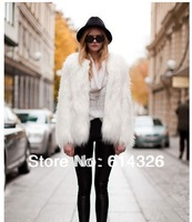 2014 New Women Fashion Soft Faux Fur Winter Long Coat High Quality Casual Luxury Furry Jacket Women Clothing